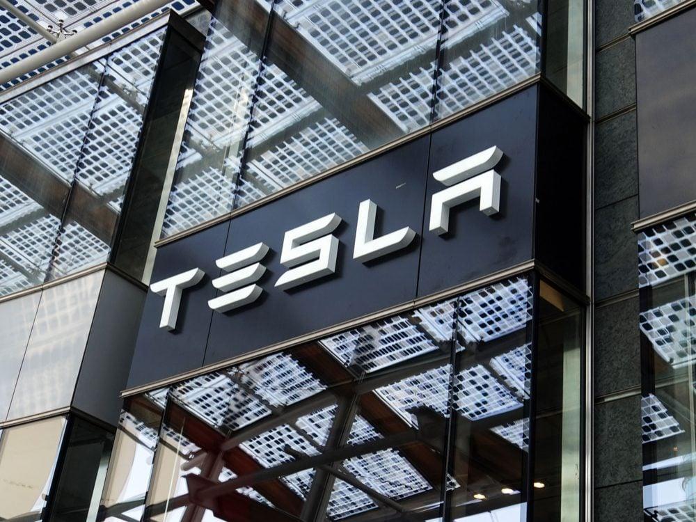 Tesla store in Milan, Italy