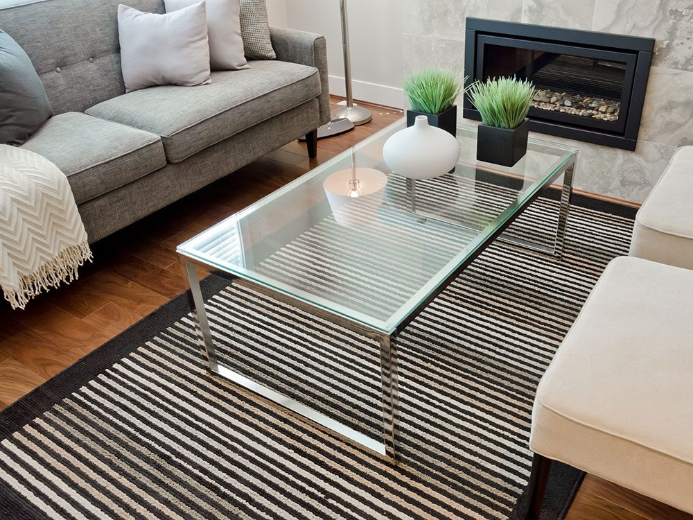 Use vinegar to clean glass tabletops