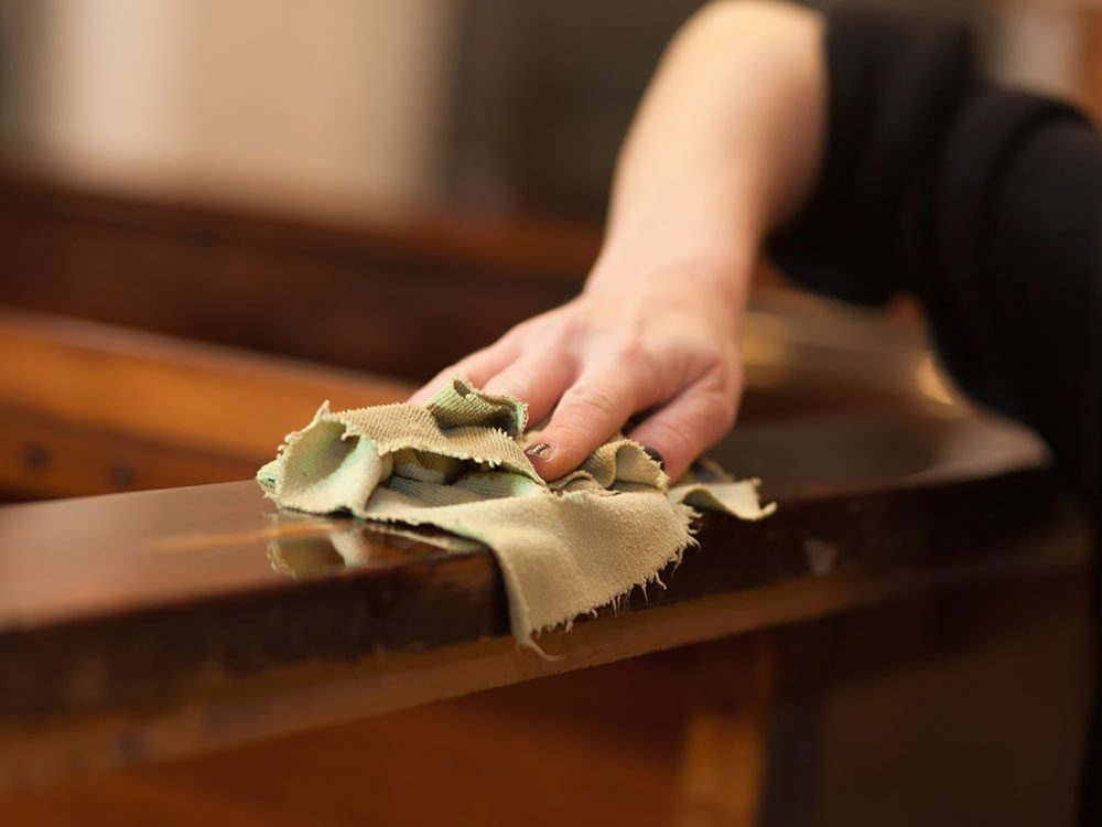 Use vinegar to polish furniture