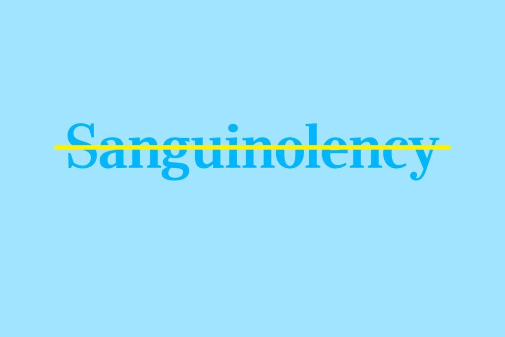 sanguinolency