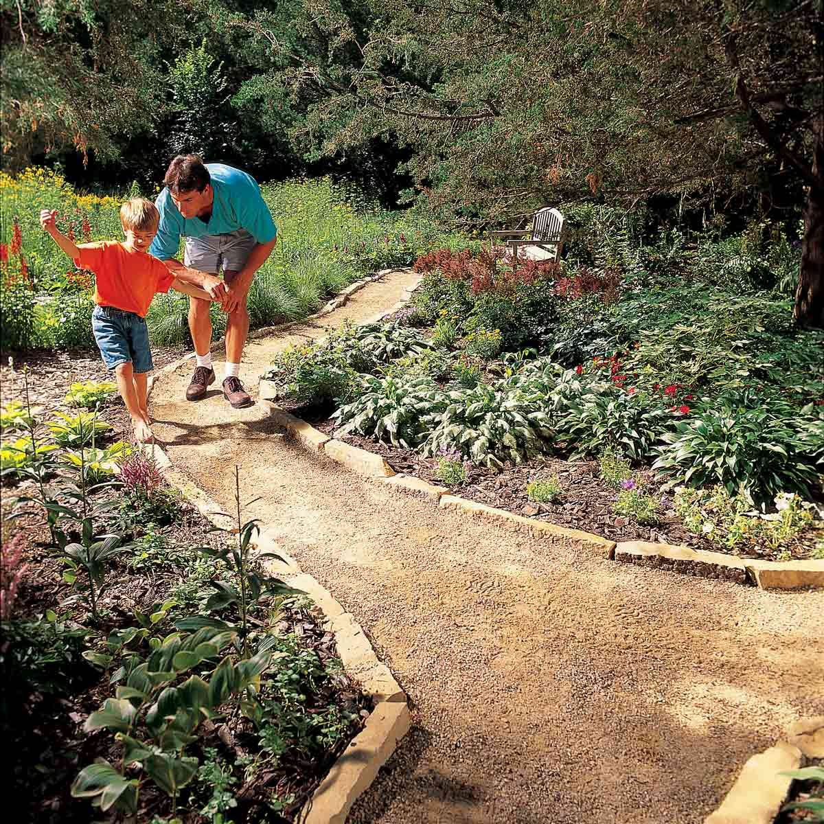 Borders and Edging gravel path brick