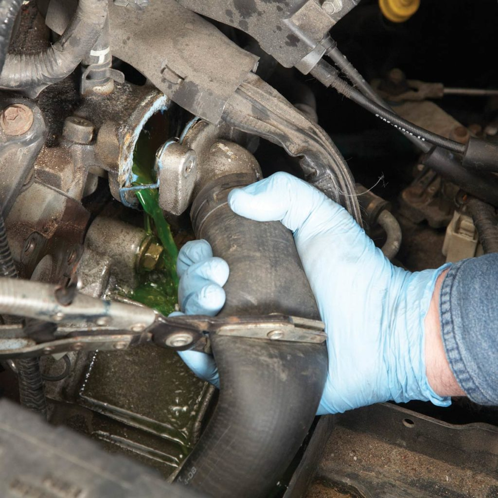 Replacing car thermostat