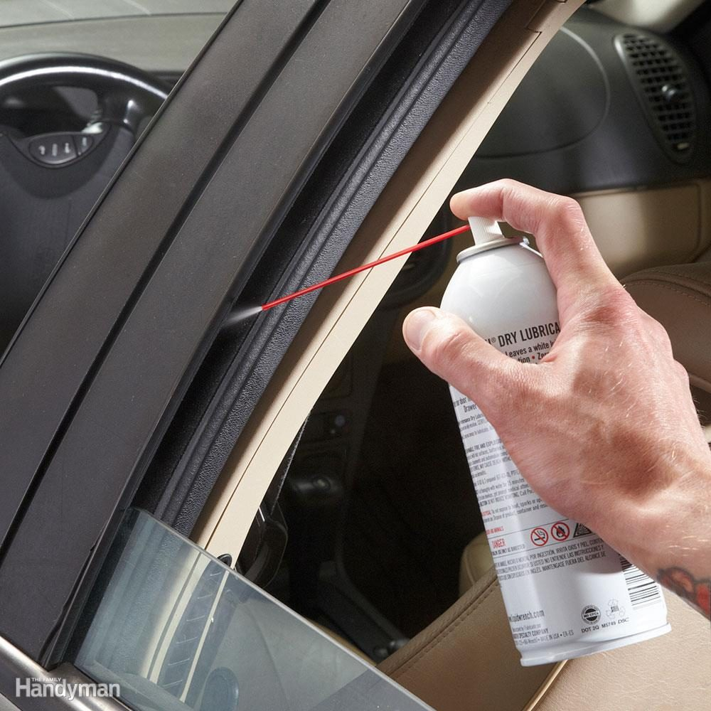 lubricate car windows