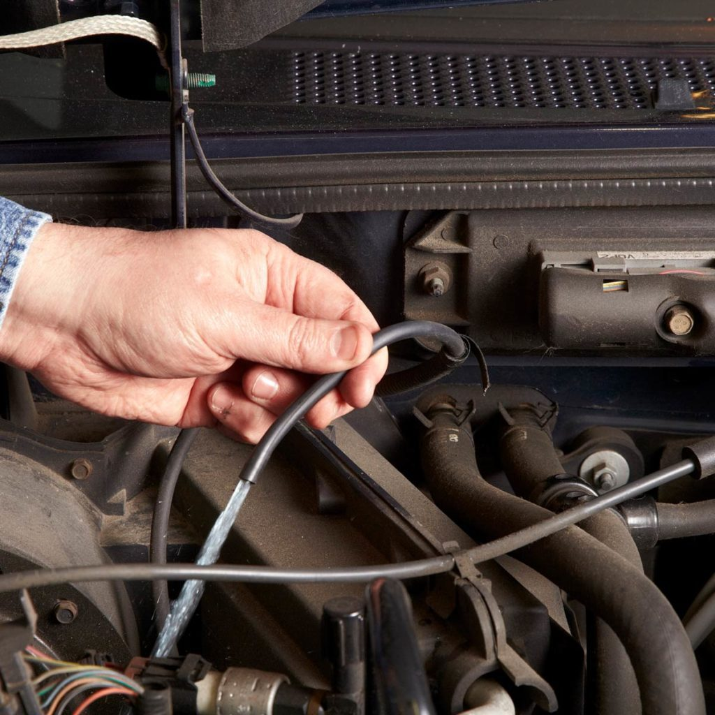 Troubleshoot windshield washer