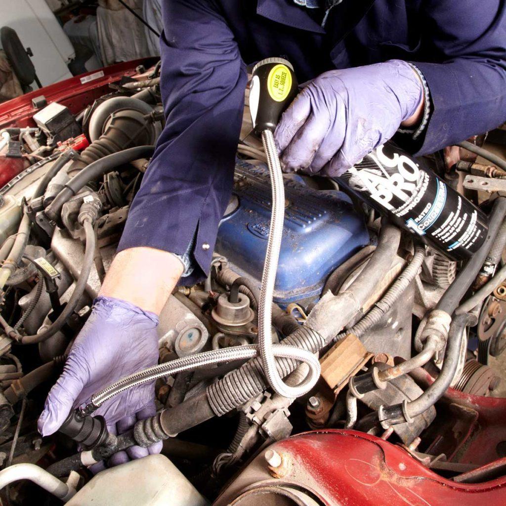 Repairing car's air conditioner