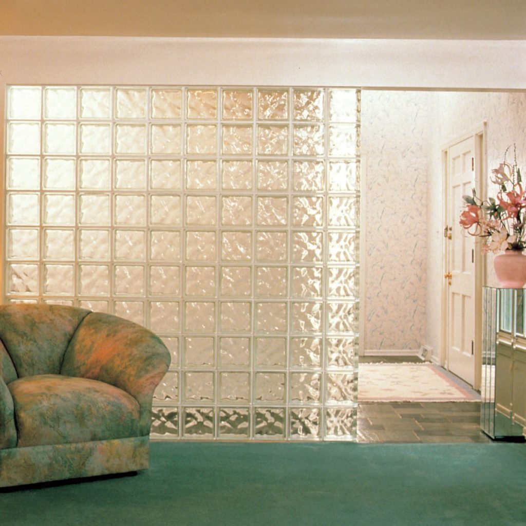 Glass block wall