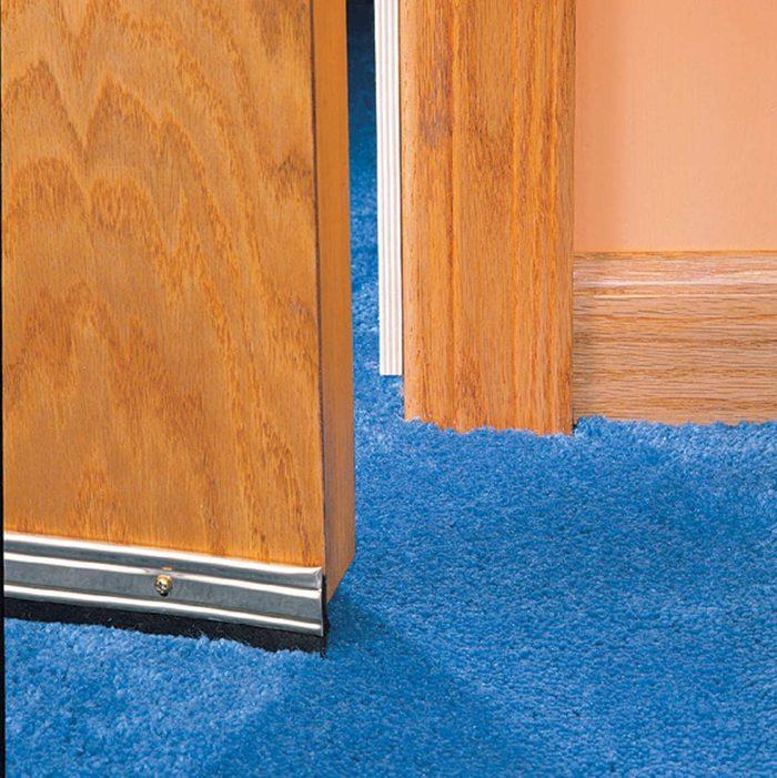 Thick blue carpet