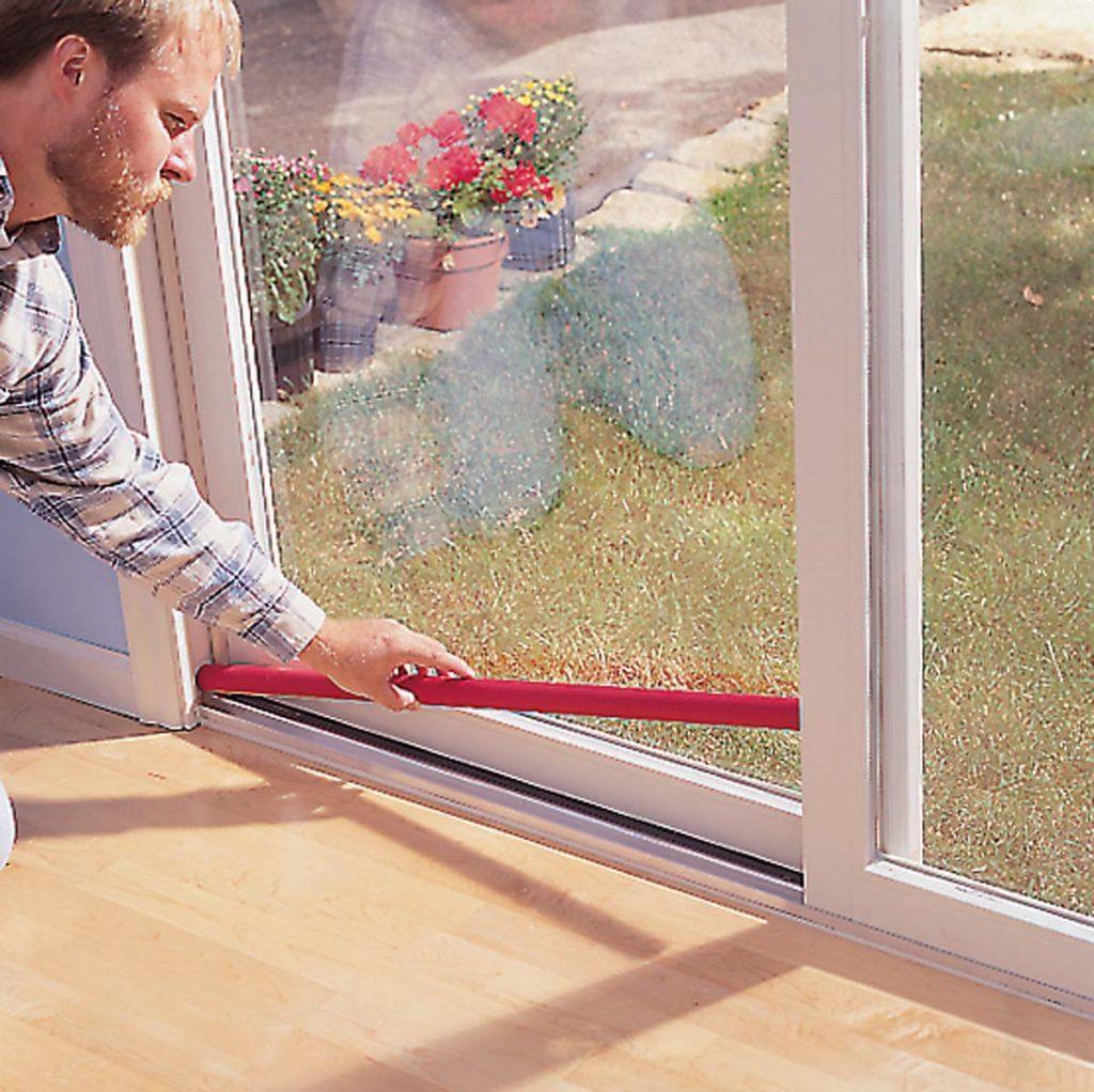 Sliding glass door bar