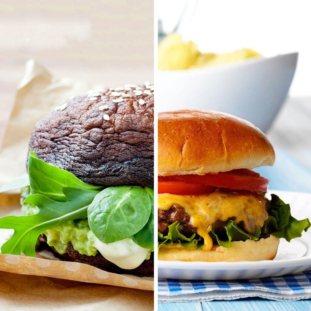 Portobello Mushrooms for Burger Buns