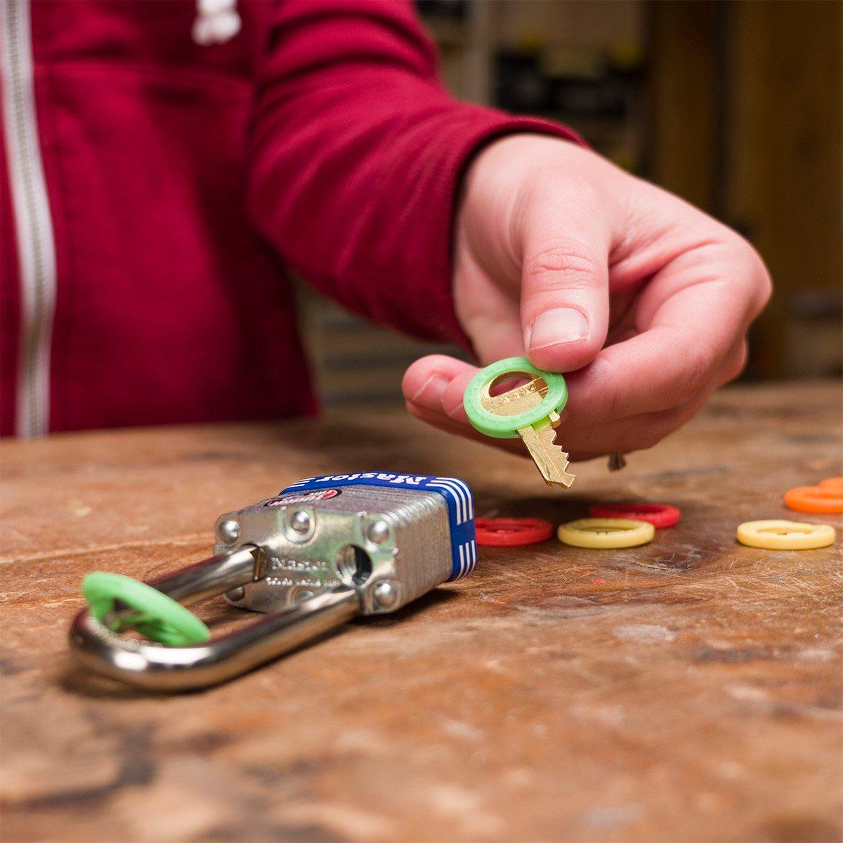 color-coding keys and padlocks