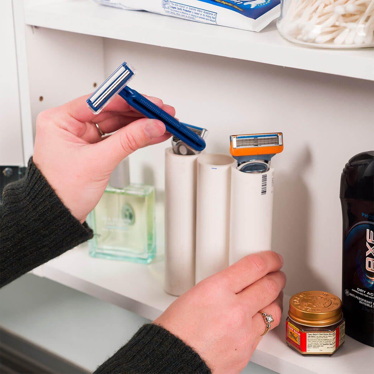 PVC razor organizer
