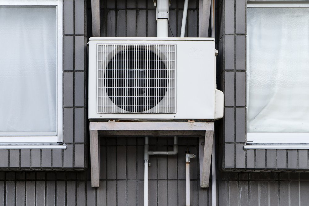 Air conditioner outside the building