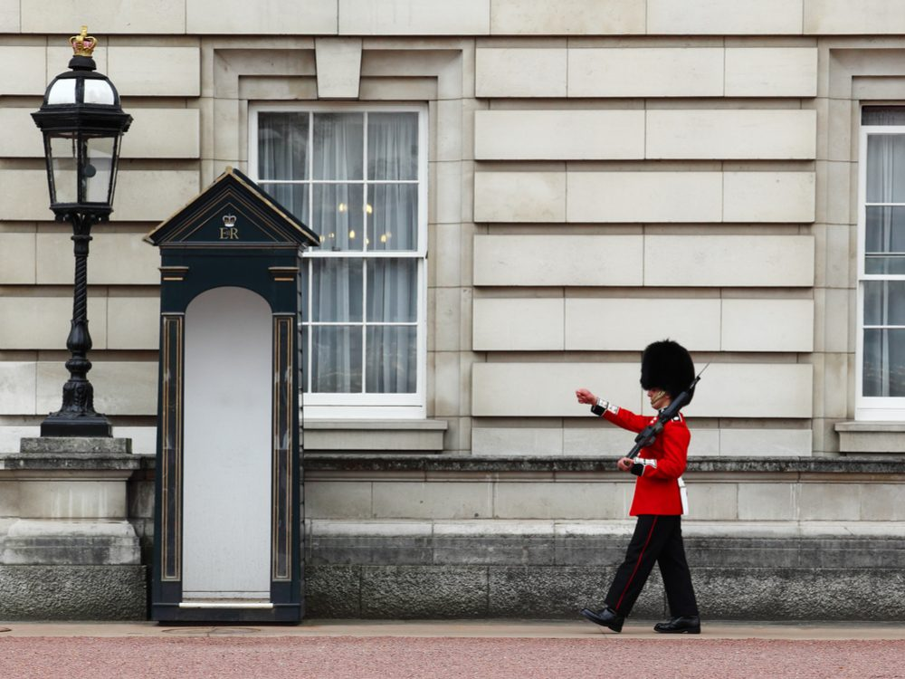 The Queen's Guard on duty at Buckingham Palace