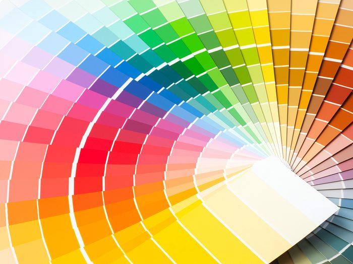 colour distinction test - rainbow fan of colours