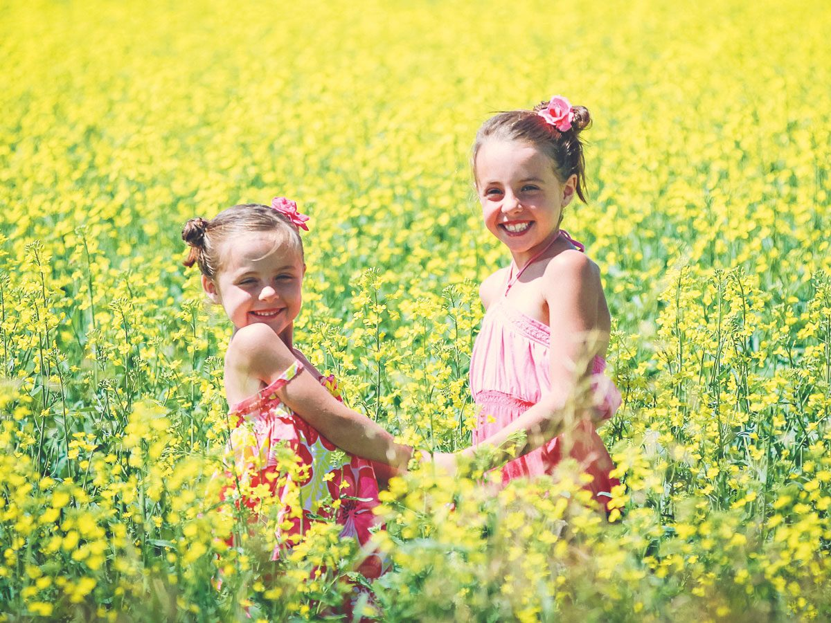 Cute kids in the great outdoors
