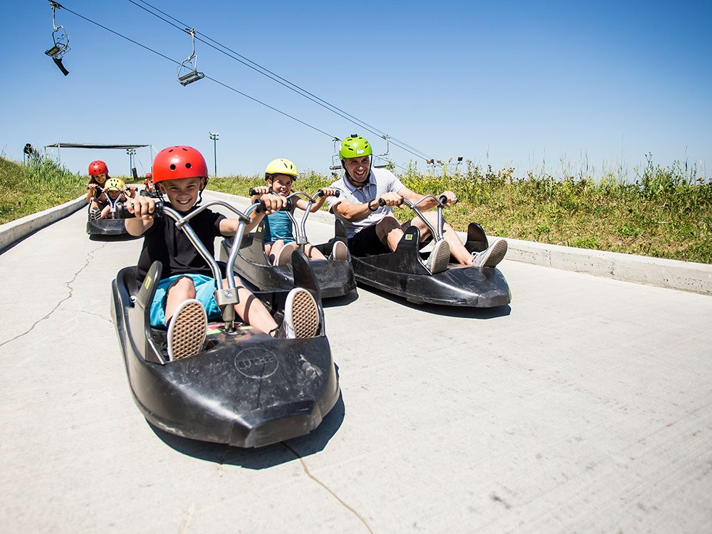 Day trips from Calgary - Skyline luge Winsport