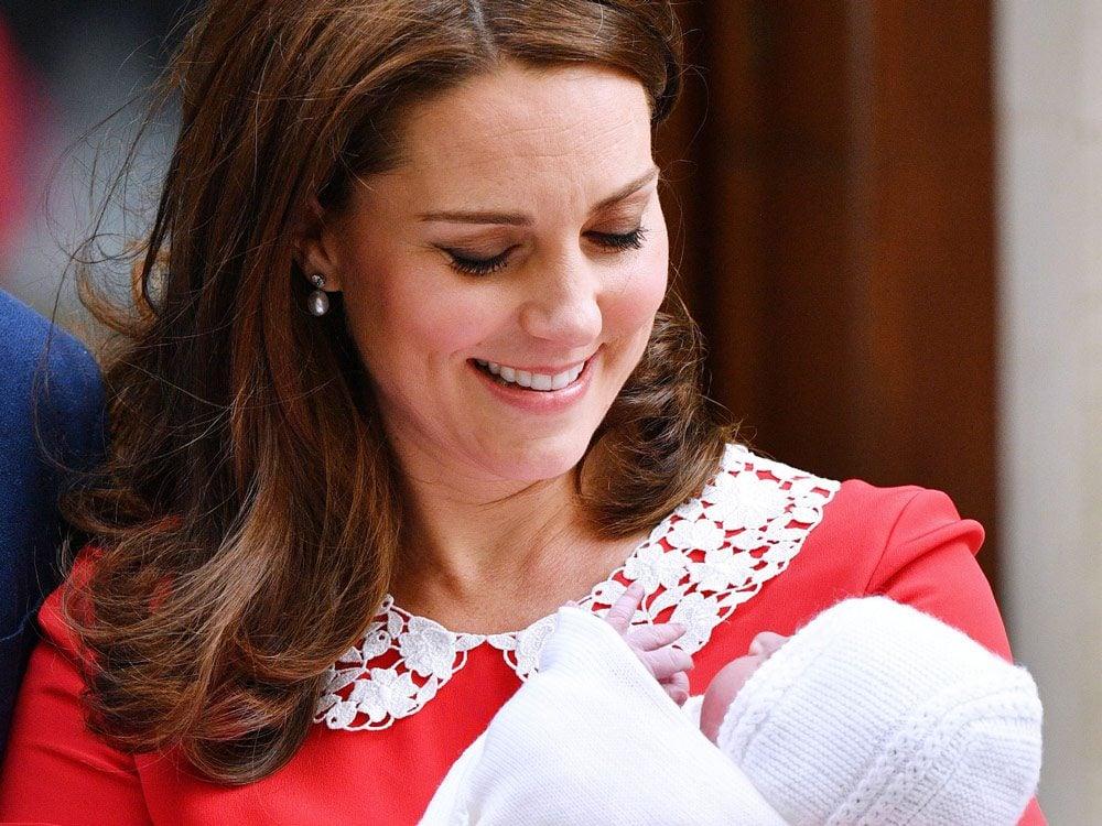 Kate Middleton with Prince Louis