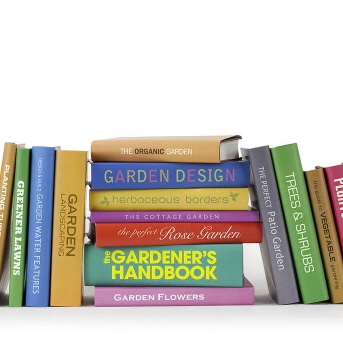 never store in your garage - gardening books