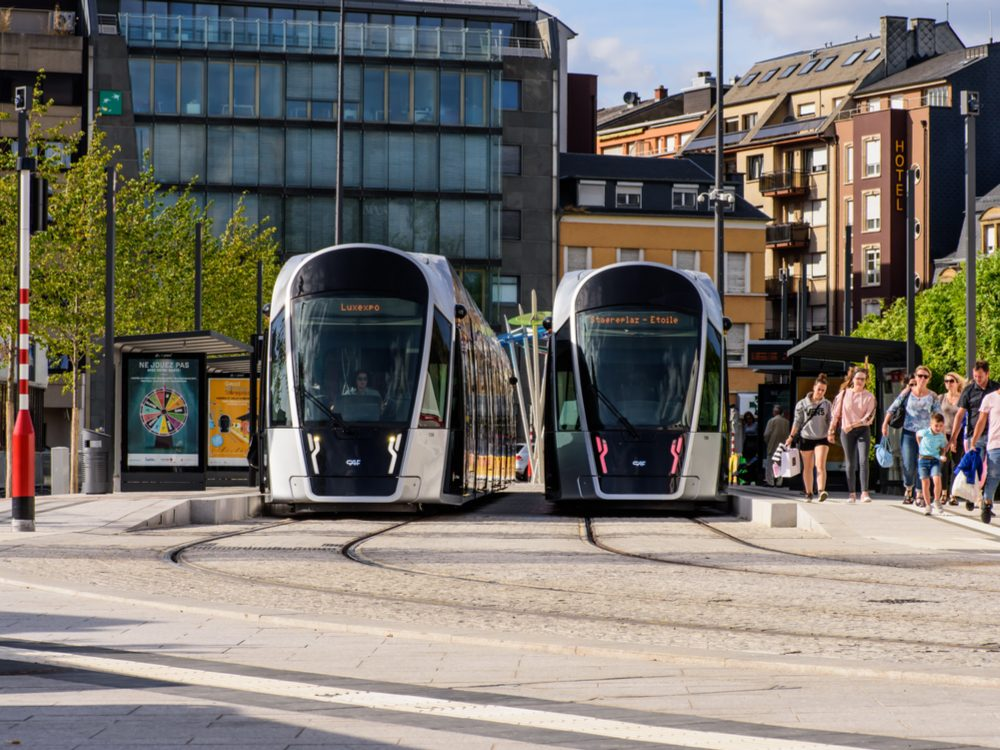 Luxembourg Light Rail trams