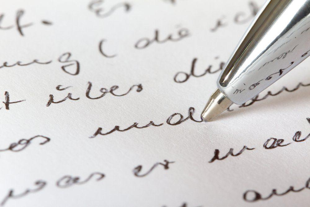 A closeup view from a handwritten document.