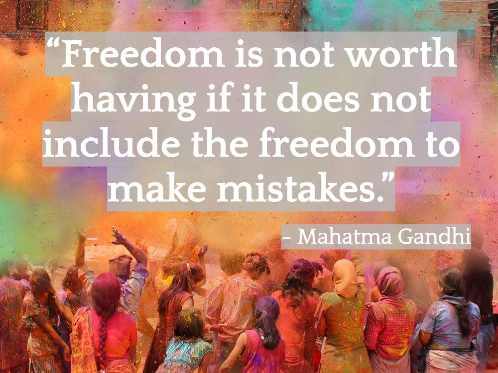 Inspiring Indian quotes - Mahatma Gandhi