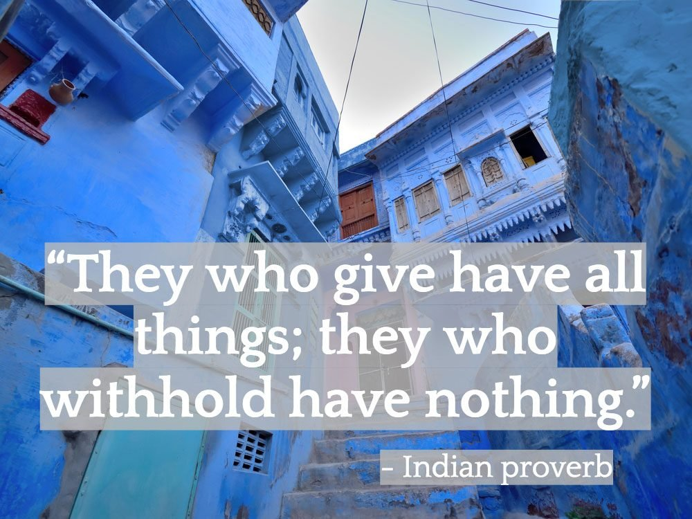 Inspiring Indian quotes - Jodhpur