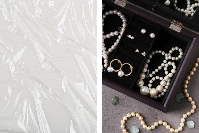 plastic wrap jewelry