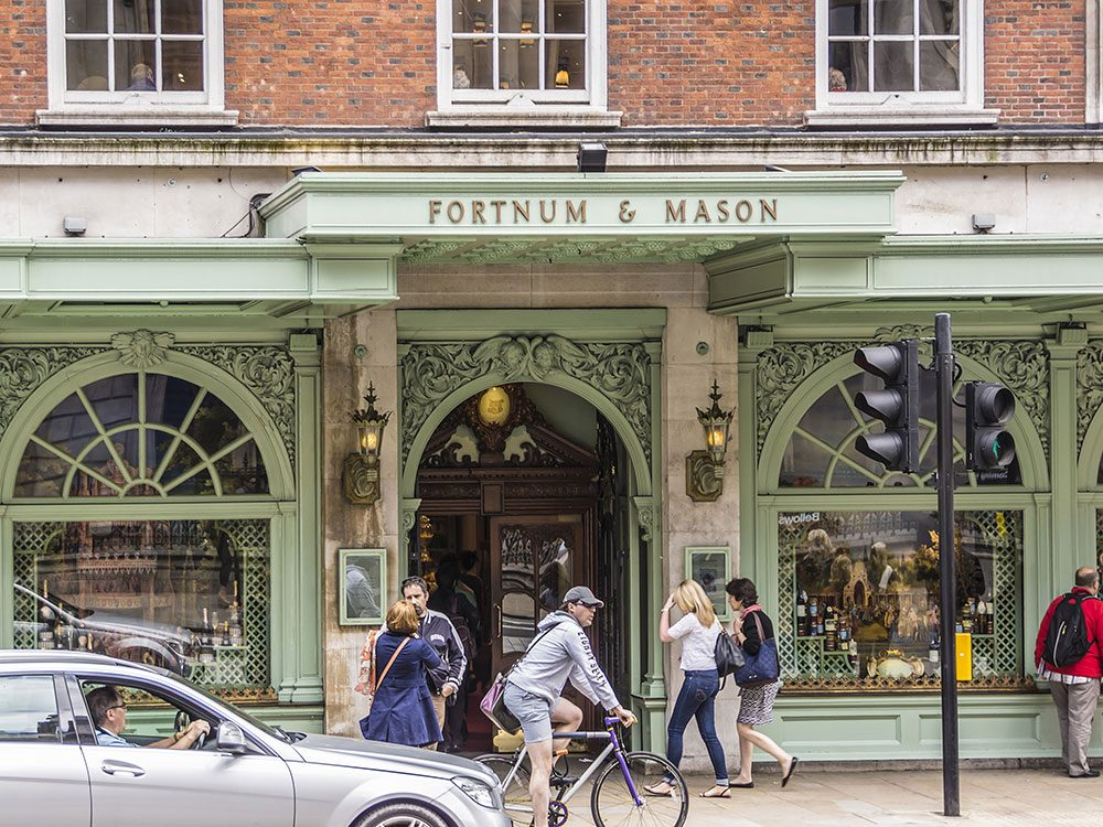 London attractions - Fortnum & Mason