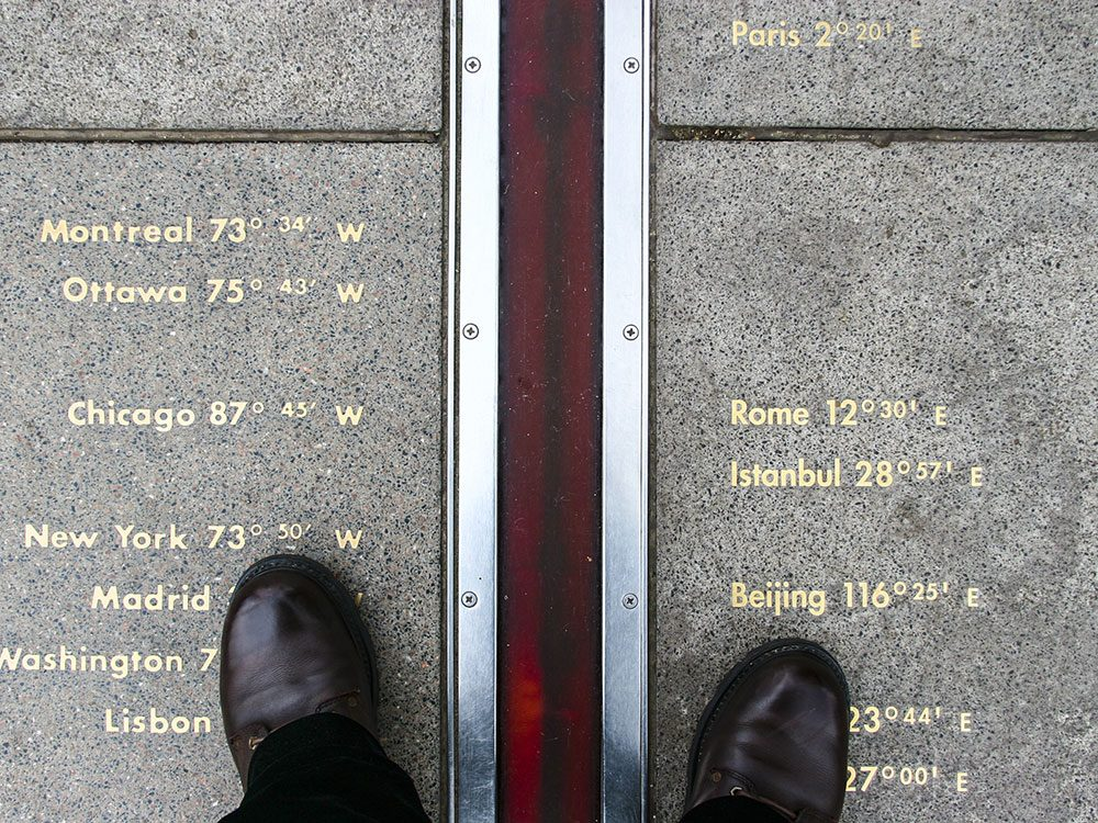 London attractions - Greenwich Prime Meridian