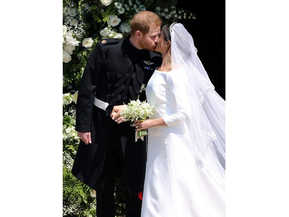 Prince Harry and Meghan Markle on their wedding