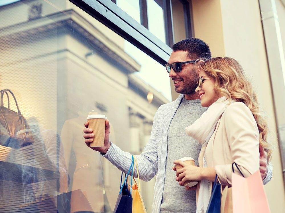 Mindful shopping - avoid window shopping