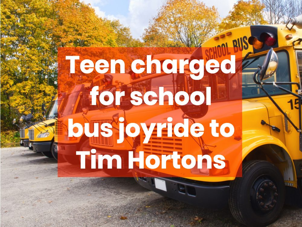 Teen charged for school bus joyride to Tim Hortons