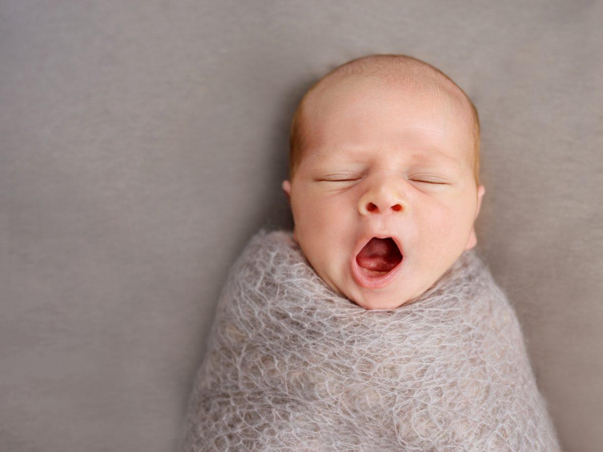 Yawning baby