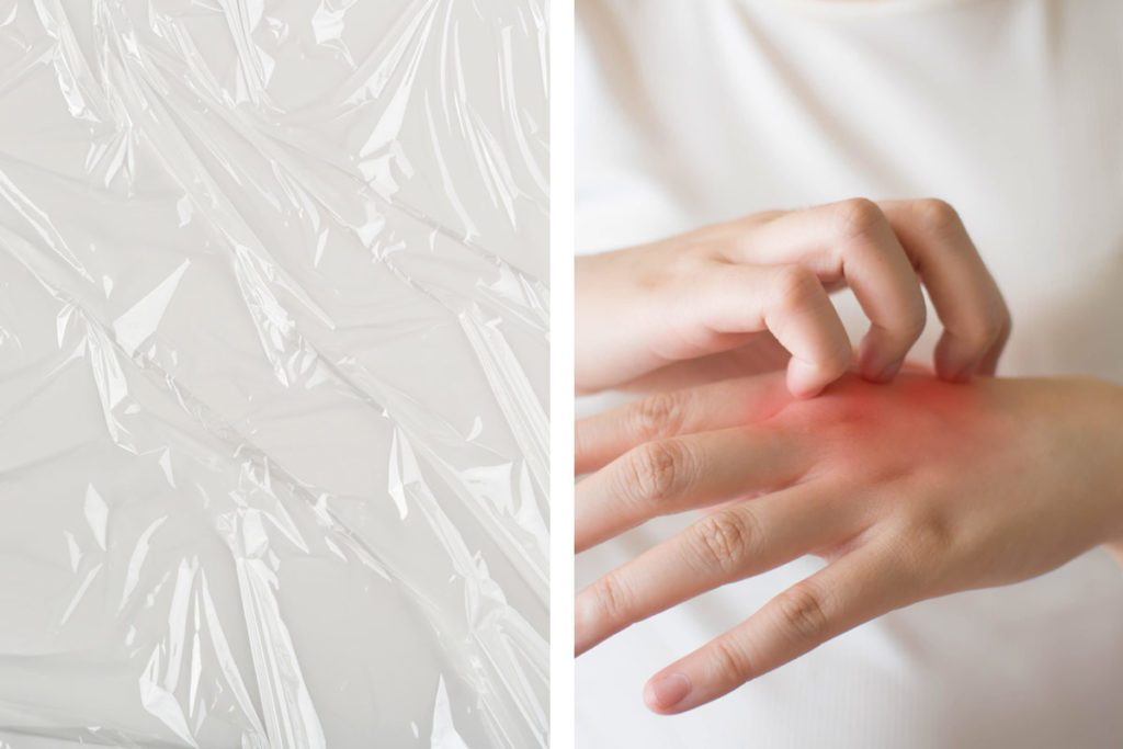 Treat psoriasis with plastic wrap