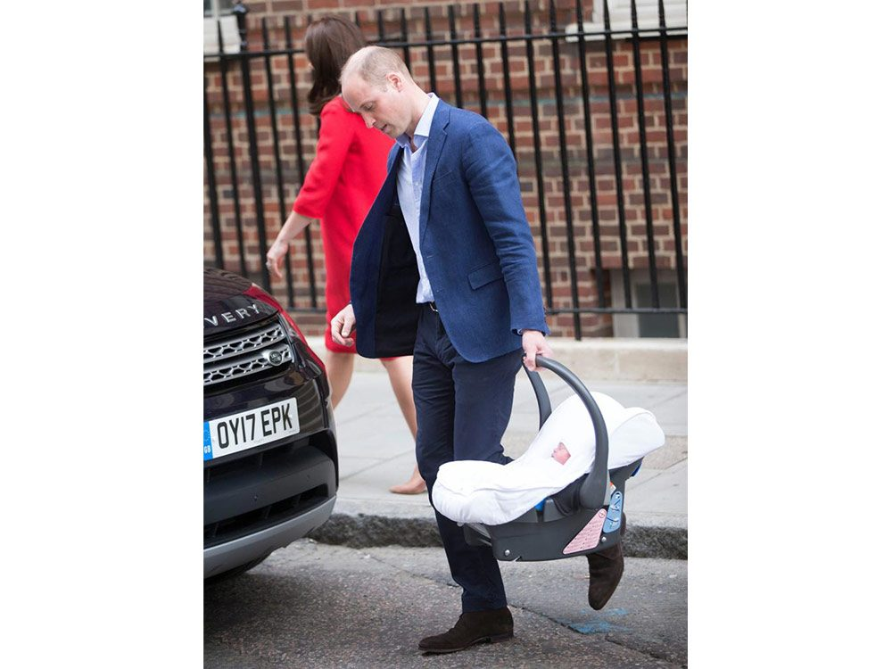 Prince William with Prince Louis