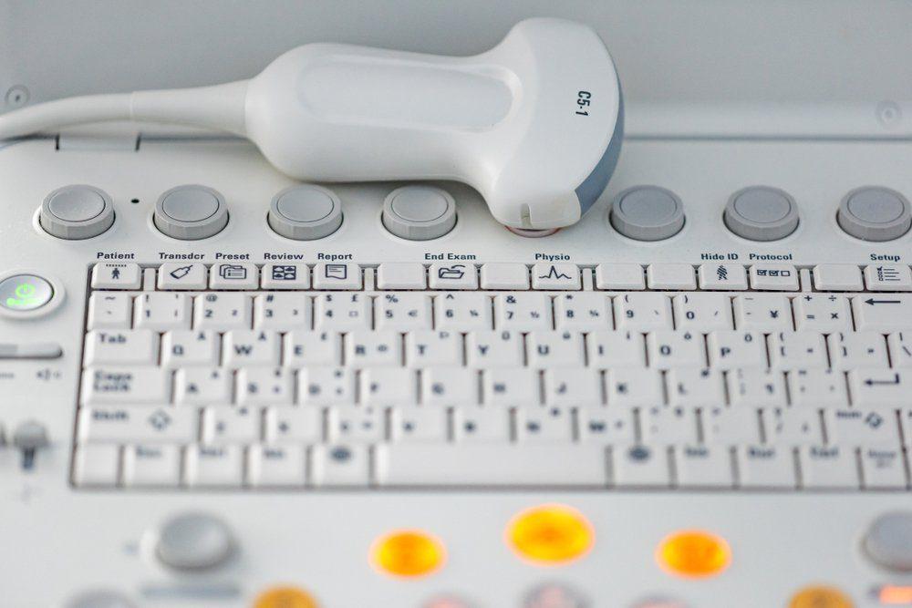 Modern ultrasound machine with sensors