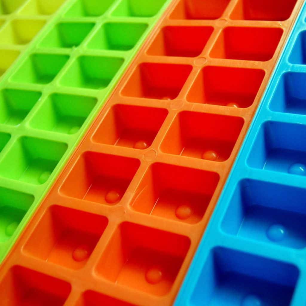 Colourful Ice Cube Trays; Shutterstock ID 302884184