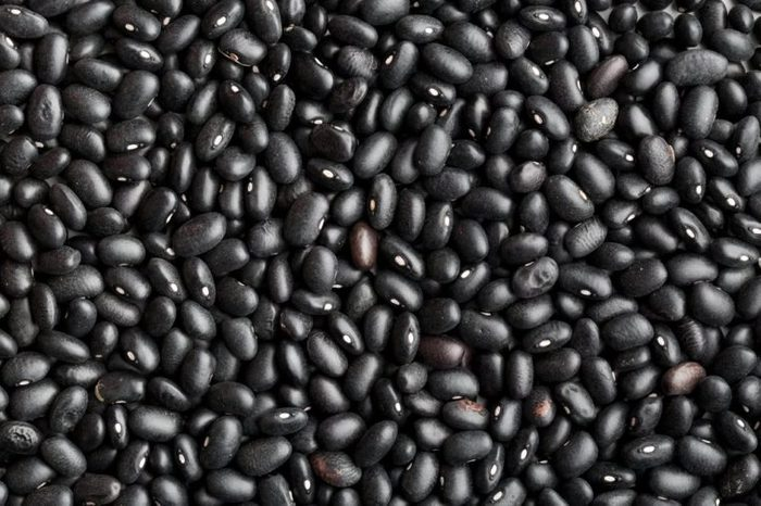 the texture of black beans