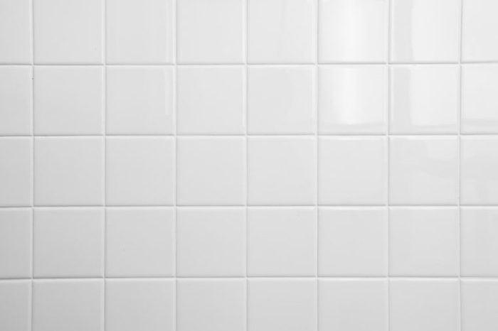 white tile background