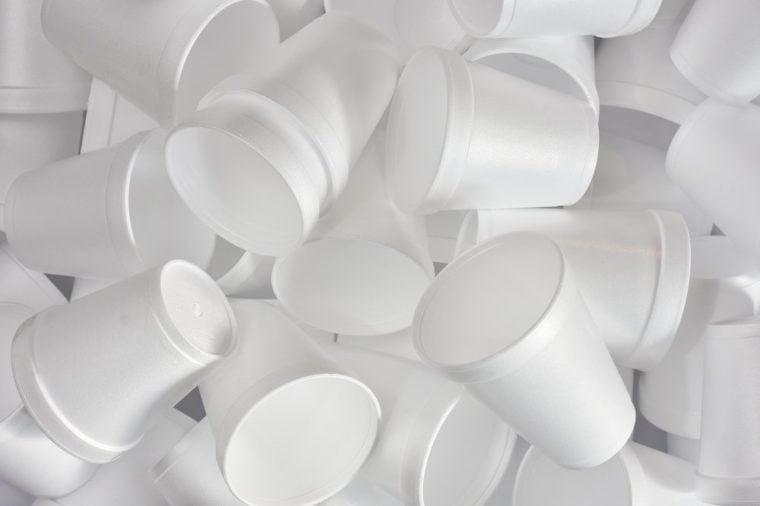 Styrofoam Cups Background