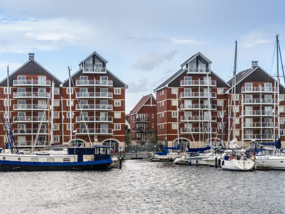 Waterfront of Ipswich, England