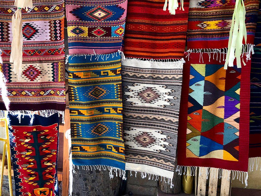 Hand-woven carpets in Todos Santos, Baja California Sur, Mexico