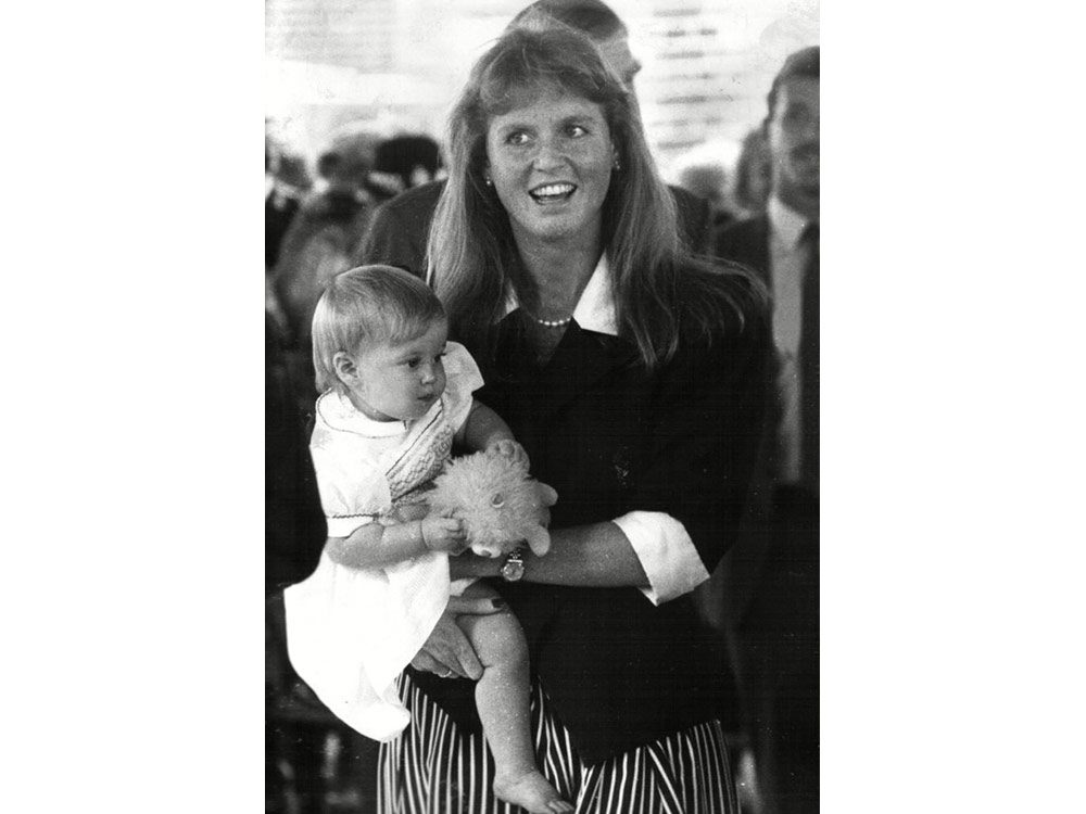 Princess Beatrice as a baby