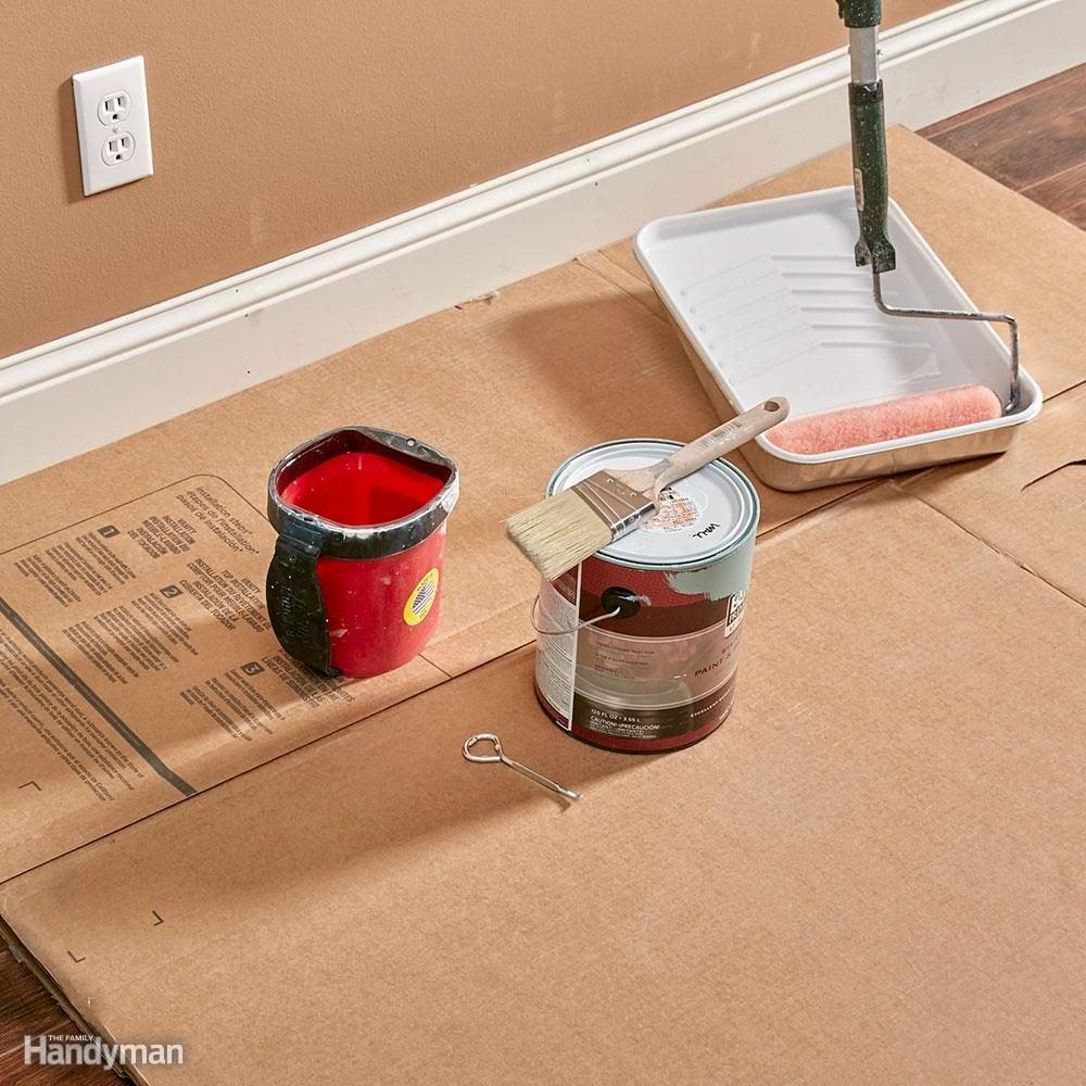 Cardboard Protects Floors Best