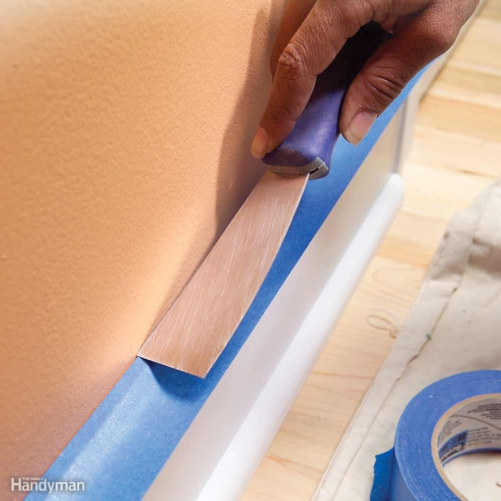 Painting tips - removing painters tape