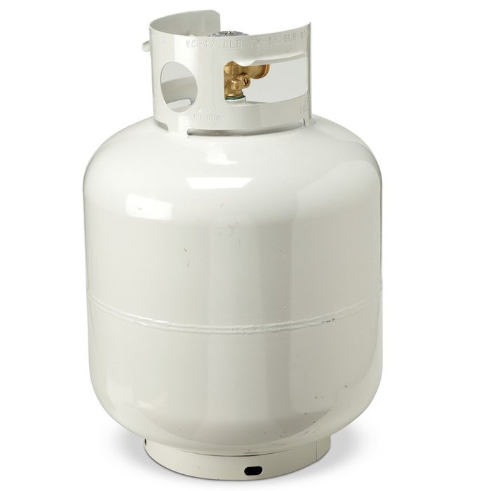 never store in your garage - propane tank
