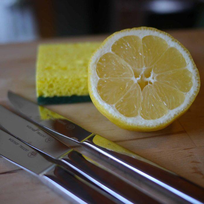 lemon polish metal
