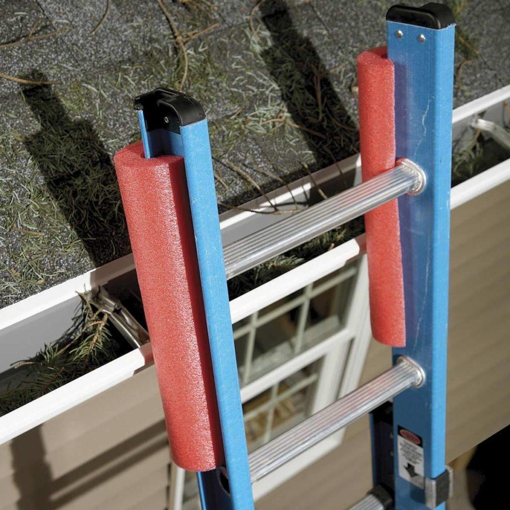 Ladder Guards pool noodles