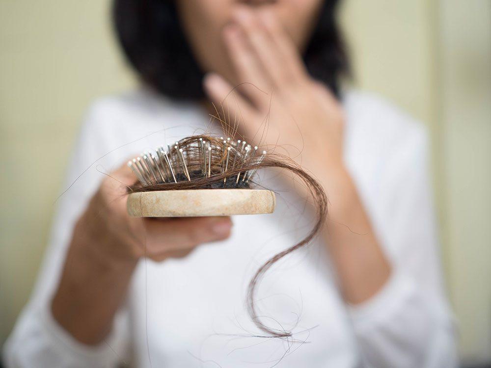 Hormone imbalance symptoms - hair loss