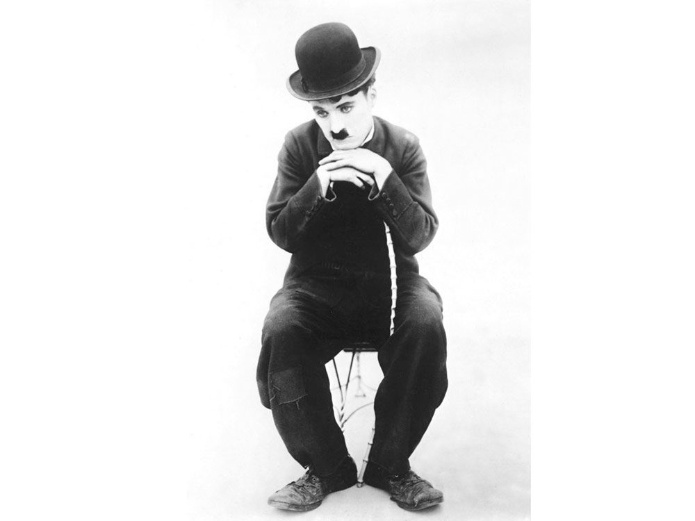 "Charlie Chaplin as ""The Little Tramp"""